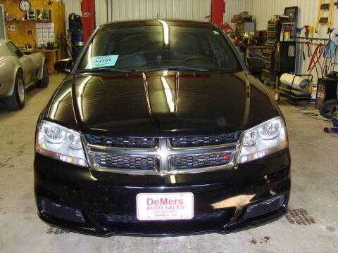 2013 Dodge Avenger for sale at DeMers Auto Sales in Winner SD