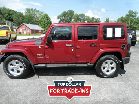 2013 Jeep Wrangler Unlimited for sale at CARSON MOTORS in Cloverdale IN