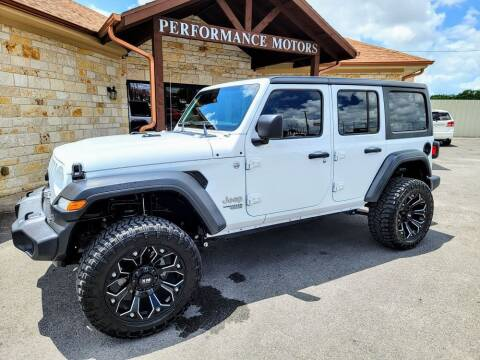 2018 Jeep Wrangler Unlimited for sale at Performance Motors Killeen Second Chance in Killeen TX