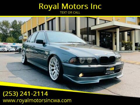 2003 BMW 5 Series for sale at Royal Motors Inc in Kent WA
