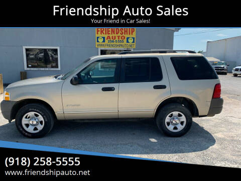 2002 Ford Explorer for sale at Friendship Auto Sales in Broken Arrow OK