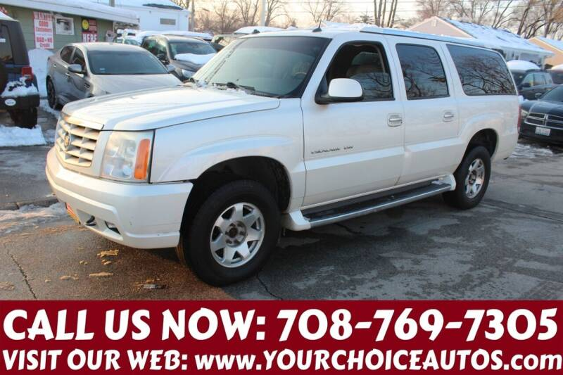 2003 Cadillac Escalade ESV for sale at Your Choice Autos in Posen IL