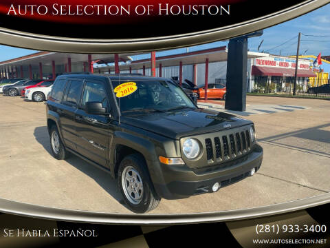 2016 Jeep Patriot for sale at Auto Selection of Houston in Houston TX