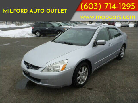 2005 Honda Accord for sale at Milford Auto Outlet in Milford NH