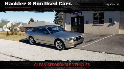 2008 Ford Mustang for sale at Hackler & Son Used Cars in Red Lion PA