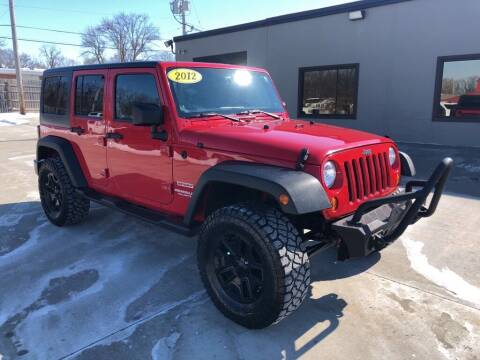 2012 Jeep Wrangler Unlimited for sale at Tigerland Motors in Sedalia MO