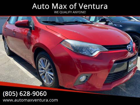 2015 Toyota Corolla for sale at Auto Max of Ventura in Ventura CA