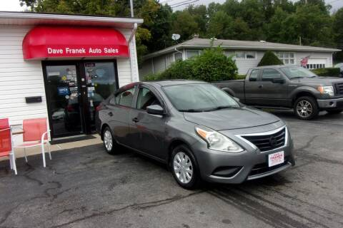 2016 Nissan Versa for sale at Dave Franek Automotive in Wantage NJ