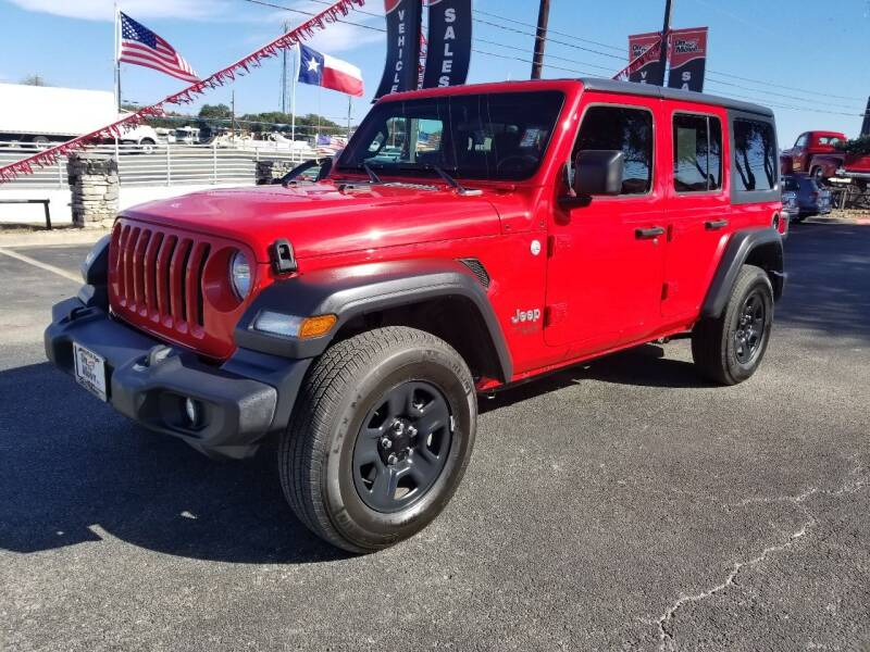 2018 Jeep Wrangler Unlimited for sale at ON THE MOVE INC in Boerne TX