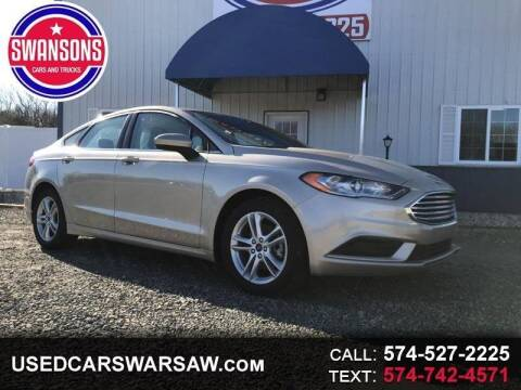 2018 Ford Fusion for sale at Swanson's Cars and Trucks in Warsaw IN