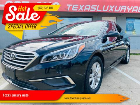 2016 Hyundai Sonata for sale at Texas Luxury Auto in Cedar Hill TX