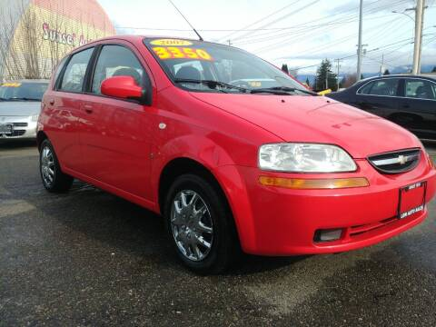 2007 Chevrolet Aveo for sale at Low Auto Sales in Sedro Woolley WA