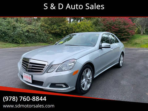 2010 Mercedes-Benz E-Class for sale at S & D Auto Sales in Maynard MA