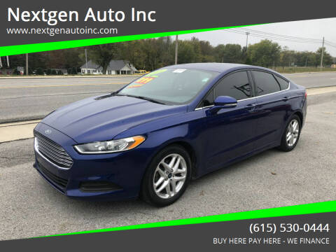 2016 Ford Fusion for sale at Nextgen Auto Inc in Smithville TN