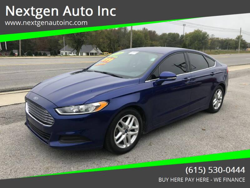 2016 Ford Fusion for sale at Nextgen Auto Inc in Smithville TN