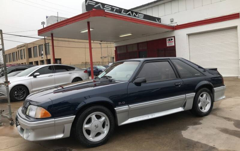 1991 Ford Mustang for sale at FAST LANE AUTO SALES in San Antonio TX