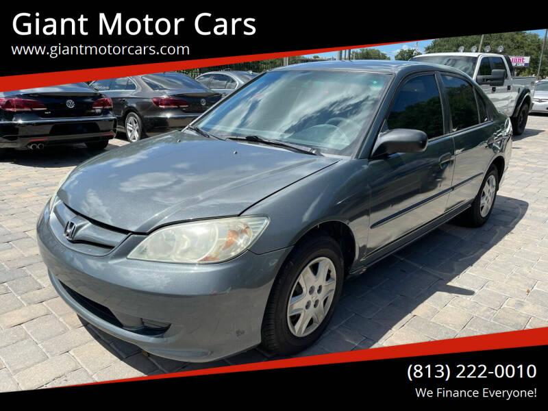 2005 Honda Civic for sale at Giant Motor Cars in Tampa FL