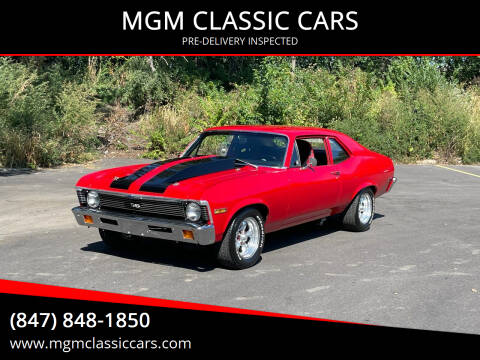 1972 Chevrolet Nova for sale at MGM CLASSIC CARS-New Arrivals in Addison IL
