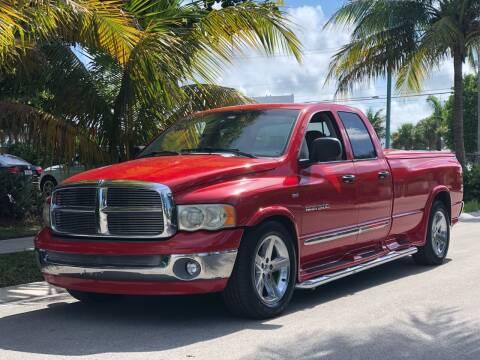 2002 Dodge Ram Pickup 1500 for sale at L G AUTO SALES in Boynton Beach FL