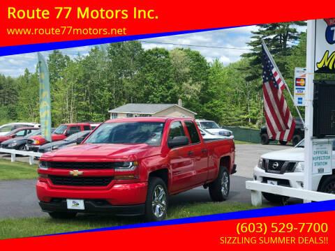2017 Chevrolet Silverado 1500 for sale at Route 77 Motors Inc. in Weare NH