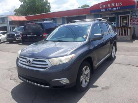 2012 Toyota Highlander for sale at Cars R Us in Binghamton NY