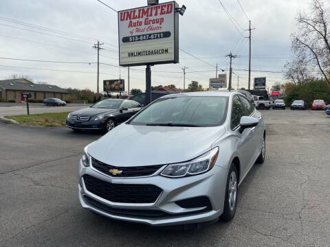 2017 Chevrolet Cruze for sale at Unlimited Auto Group in West Chester OH