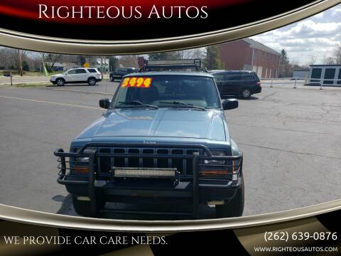 1999 Jeep Cherokee for sale at Righteous Autos in Racine WI