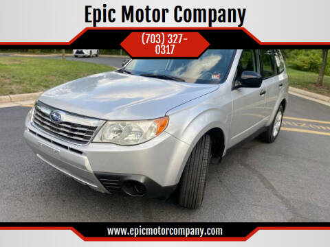 2010 Subaru Forester for sale at Epic Motor Company in Chantilly VA