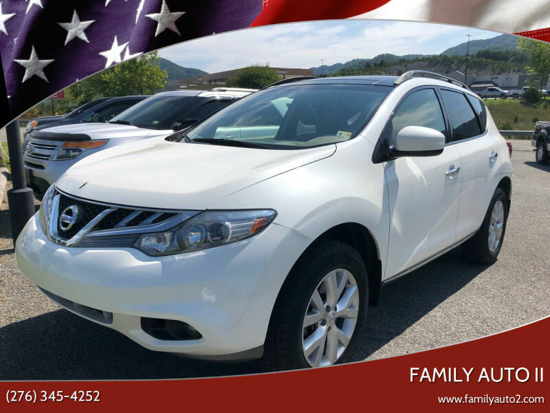 2012 Nissan Murano for sale at FAMILY AUTO II in Pounding Mill VA