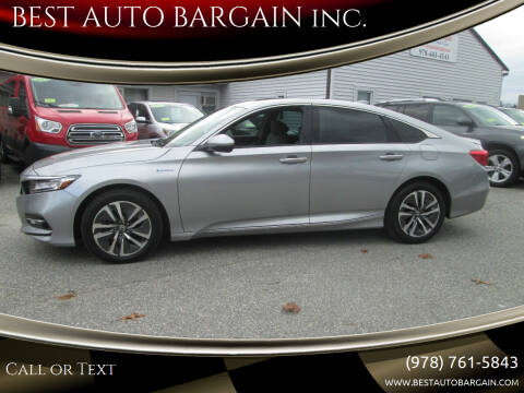 2019 Honda Accord Hybrid for sale at BEST AUTO BARGAIN inc. in Lowell MA