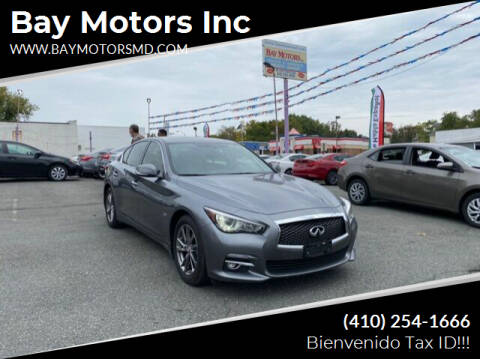 2017 Infiniti Q50 for sale at Bay Motors Inc in Baltimore MD