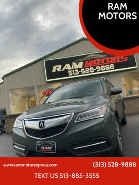 2014 Acura MDX for sale at RAM MOTORS in Cincinnati OH