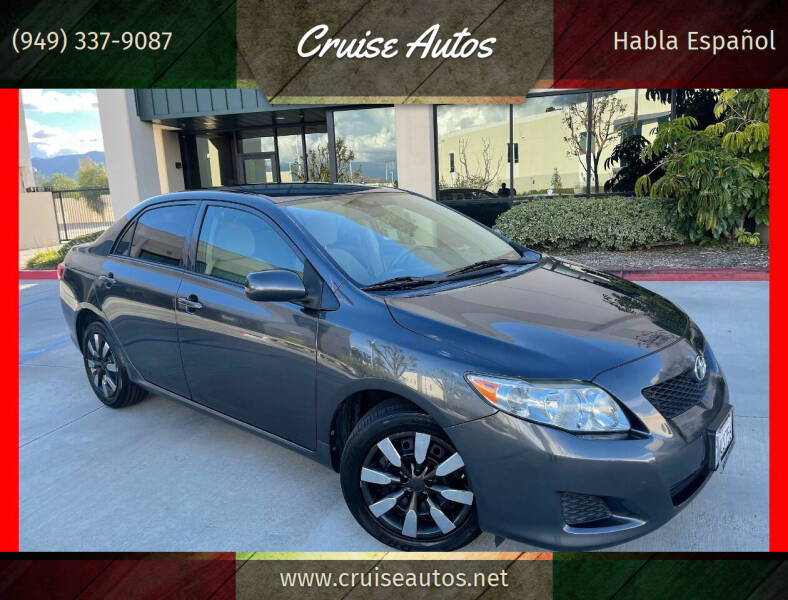 2010 Toyota Corolla for sale at Cruise Autos in Corona CA