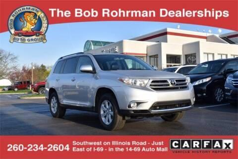 2013 Toyota Highlander for sale at BOB ROHRMAN FORT WAYNE TOYOTA in Fort Wayne IN