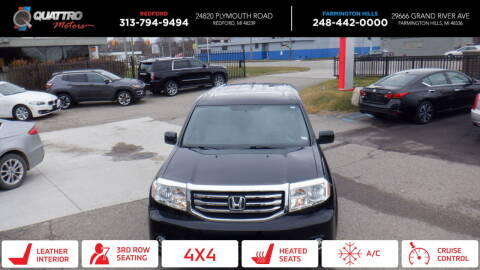 2013 Honda Pilot for sale at Quattro Motors 2 - 1 in Redford MI