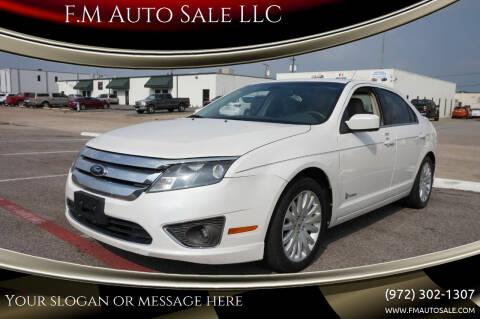 2012 Ford Fusion Hybrid for sale at F.M Auto Sale LLC in Dallas TX