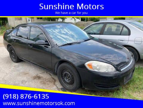 2008 Chevrolet Impala for sale at Sunshine Motors in Bartlesville OK
