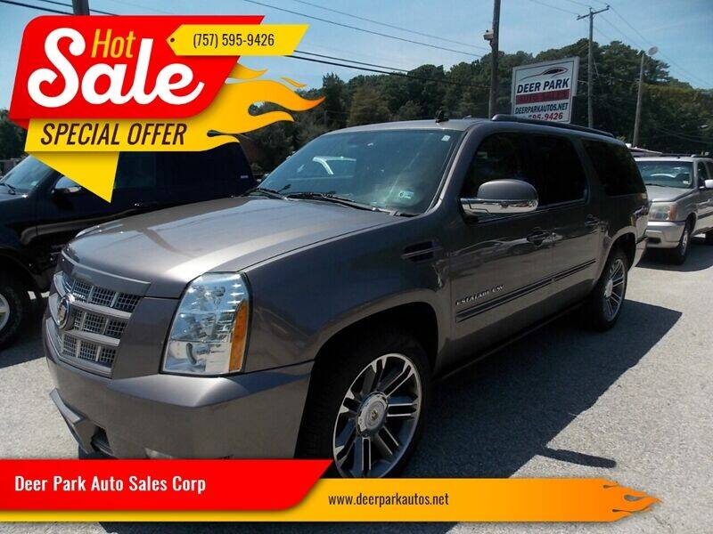 2013 Cadillac Escalade ESV for sale at Deer Park Auto Sales Corp in Newport News VA