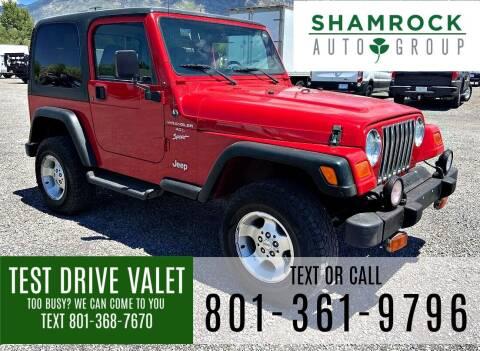 2001 Jeep Wrangler for sale at Shamrock Group LLC #1 in Pleasant Grove UT