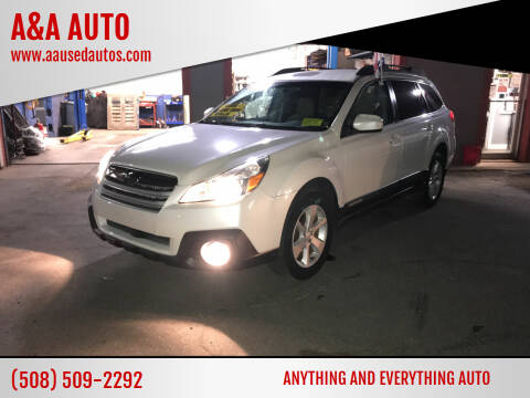 2013 Subaru Outback for sale at A&A AUTO in Fairhaven MA