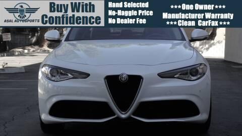 2018 Alfa Romeo Giulia for sale at ASAL AUTOSPORTS in Corona CA