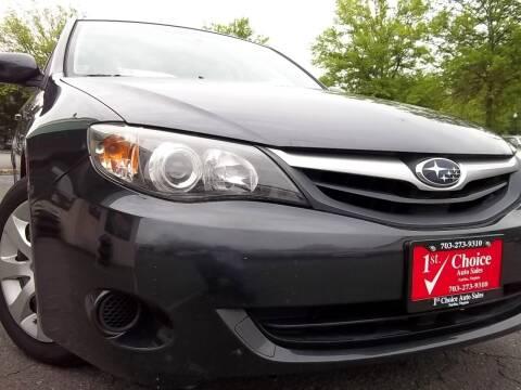 2010 Subaru Impreza for sale at 1st Choice Auto Sales in Fairfax VA