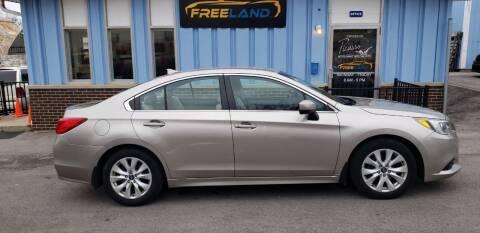 2016 Subaru Legacy for sale at Freeland LLC in Waukesha WI