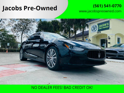 2016 Maserati Ghibli for sale at Jacobs Pre-Owned in Lake Worth FL