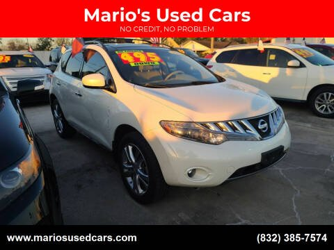 2010 Nissan Murano for sale at Mario's Used Cars in Houston TX