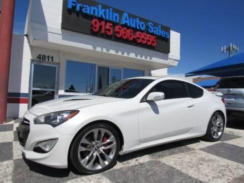 2013 Hyundai Genesis Coupe for sale at Franklin Auto Sales in El Paso TX