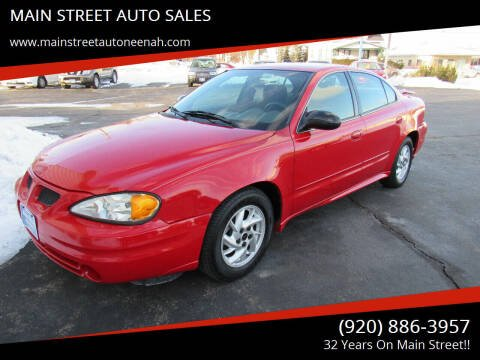 2004 Pontiac Grand Am for sale at MAIN STREET AUTO SALES in Neenah WI