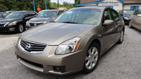 2007 Nissan Maxima for sale at NORCROSS MOTORSPORTS in Norcross GA