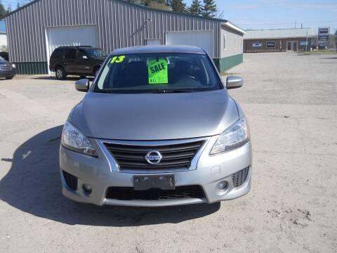 2013 Nissan Sentra for sale at Shaw Motor Sales in Kalkaska MI