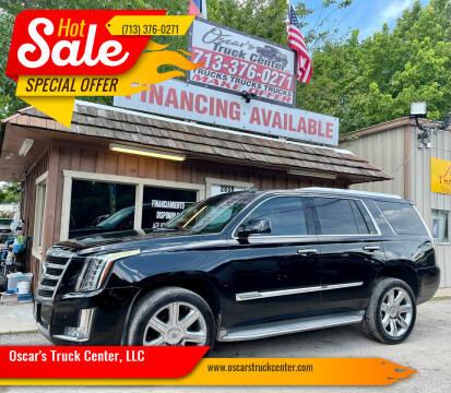2015 Cadillac Escalade for sale at Oscar's Truck Center, LLC in Houston TX